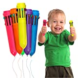 Toy Cubby Plastic Colorful Retractable Mini Shuttle Pens - 24 Pcs