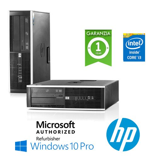 PC HP Compaq 6200 Pro Core i3-2100 3.1GHz 4Gb Ram 250Gb DVDRW Windows 10 Professional - MAR (Ricondizionato Certificato)
