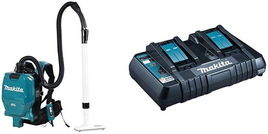 MAKITA DVC260Z DVC260Z-Aspiradora de Mochila 18x2 BL + Makita DC18RD Cargador de batería - Cargadores y baterías cargables: Amazon.es: Bricolaje y herramientas