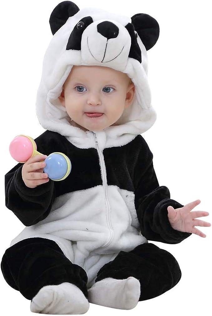Amazon.com: IDGIRL Disfraz de bebé, pijamas de animal para ...