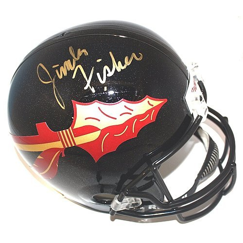 Jimbo Fisher Autographed Signed Black Florida State Seminoles Full Size Deluxe Replica Football Helmet - Certified (Autographed Authentic Football Helmet)