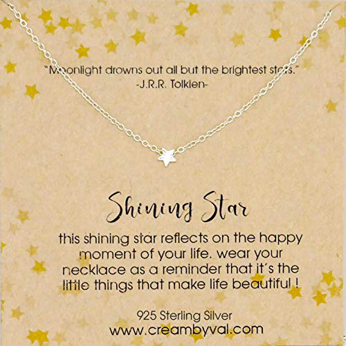 - Shining Star Sterling Silver Necklace - 17'' Length