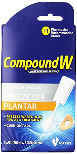 Compound W Freeze Off Plantar 8 applications kit (2 Pack)