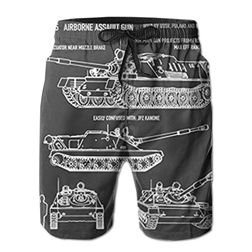 ASU-85 Russian Airborne Self-Propelled Gun Airborne Men's Swim Trunk White