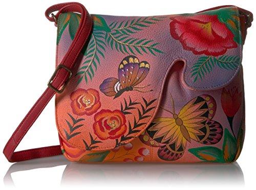 Handpainted Garden Smg summer Leather Bag Anuschka Women's Anna Convertible Shoulder pZwTHwq