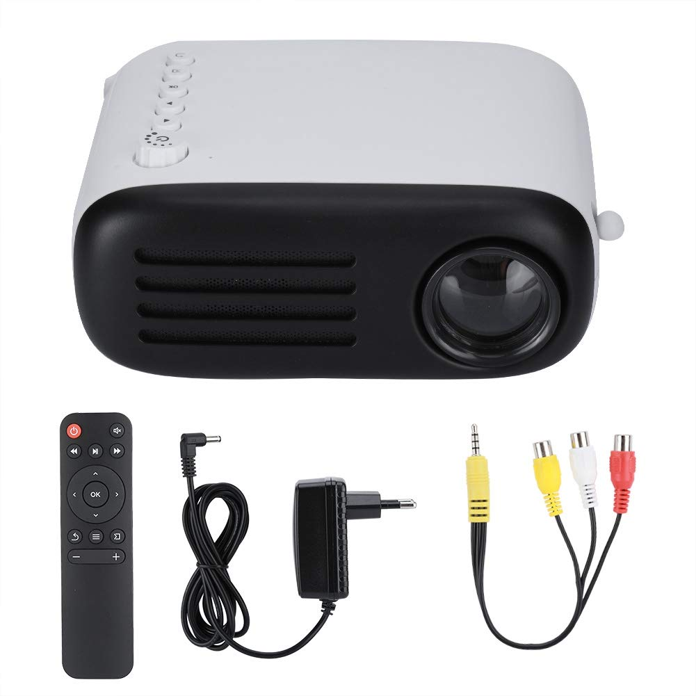 Redxiao Video Projector, Mini Universal Practical Durable Portable for Home Office Miniature 3D Cinema 100-240V by Redxiao