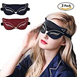 Bonaweite Natural Silk Super-Smooth 3D Eye mask Reusable Therapy SPA Gel Eye Mask Set with Adjustable Strap, Improve Sleeping, Fatigue, Headache and Tension,for Shift Work, Naps, Travel