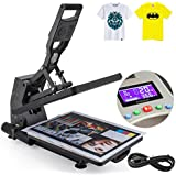 VEVOR Heat Press Auto Open 16x20Inch Hydraulic Max 700KG High Pressure Heat Press Machine Digital Display Manual T-Shirt Heat Press with Drawer (16x20Inch Auto Open)