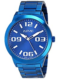 August Steiner Men's AS8134BU Analog Display Swiss Quartz Blue Watch