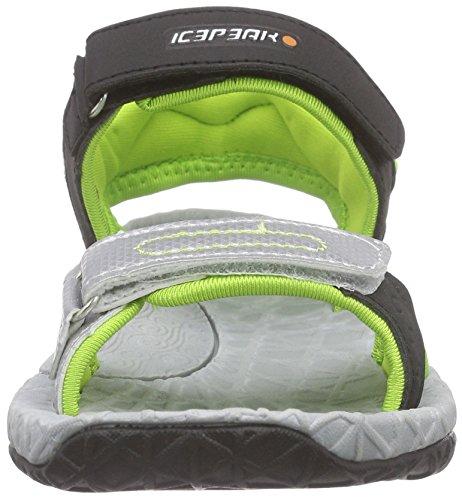 Icepeak Unisex-Kinder Wodan Jr Sandalen Trekking-& Wanderschuhe Grün (125 fudge)