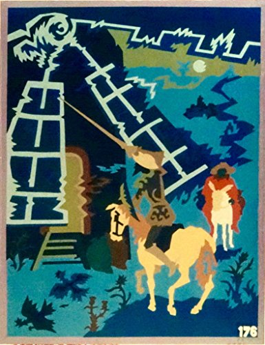 """""""DON QUIXOTE,""""Spanish""""Encanto""""Tapestry PUZZLE,15.5'' X 20.5""""Original Mid-Century Modern, c.1965,100% Virgin Wool Felt,Mint Condition.Do-It-Yourself complete Puzzle kit:more fun, save money! by Encanto Tapestries"""