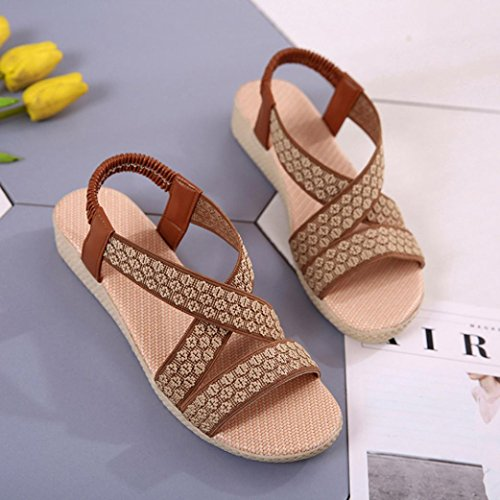 Sport Toe Cross Gladiator VEMOW Flip Summer Flat Girls Ladies Shoes Shoes Girls for Beach Ladies Dancer Fashion Women School Club Flat Casual Teen Party Bikini Roman Peep Sandals 2018 Spring Brown Flops r7rEq4P