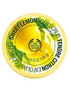 The Body Shop Sweet Lemon Body Scrub, Regular, 7.75 Ounce