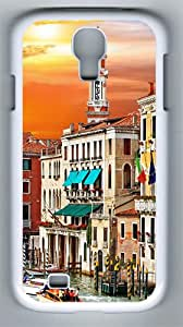 Case for Samsung Galaxy S4 Colorful Venice Corner PC Hard Case for Samsung Galaxy S4 / SIV/ I9500 White