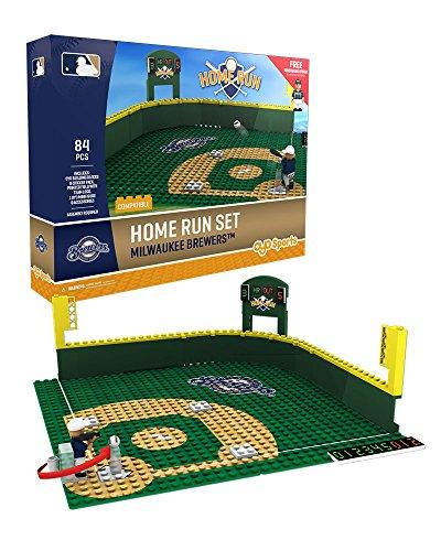 Oyo Sportstoys MLB Milwaukee Brewers Baseball Home Run Derby Playset Minifigure, Small, White