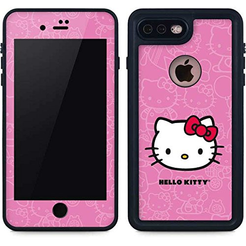 new arrivals b8caf 8c212 Hello Kitty iPhone 8 Plus Case - Hello Kitty Face Pink | Sanrio Hello Kitty  X Skinit Waterproof Case