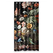 DebbieBrown Polyester Bath Curtains Of Famous Classic Art Painting Flowers Blossoms For Couples Gf Kids Boys Him Hotel. Dries Quickly Width X Height / 36 X 72 Inches / W * H 90 By 180 Cm(f