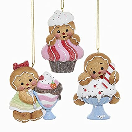 Kurt Adler hielo crema de helado de jengibre adorno de flotador/Cupcake 3 un