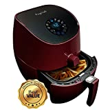 MegaChef Airfryer and Multi-Cooker with 7 Pre-Programmed Settings, 3.5 quart, Burgundy For Sale