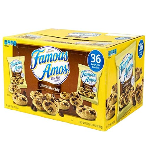 Famous Amos Chocolate Chip Cookies – 36/2 oz. by Famous Amos [Foods] – PACK OF 3