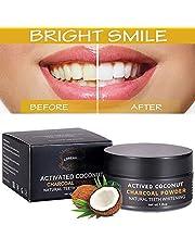 Carbone Attivo Denti,Carbone Attivo Sbiancante,Sbiancamento Dei Denti,Polvere Denti,Carbone Denti,Teeth Whitening,Efficace Contro il Cattivo Respiro,Migliora Salute Orale,Pulizia Profonda