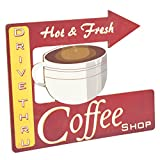 lighted tabletop clock - CWI Gifts Retro Hot Coffee Kickstand Sign, 15