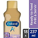Enfamil A+ Gentlease Infant Formula Ready to Feed Bottles, 237ml, 18 pack