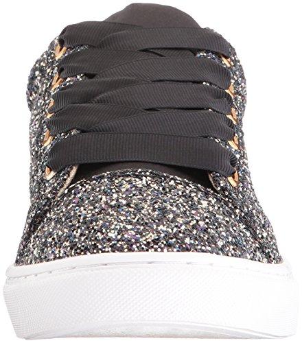 Blue Av Betsey Johnson Womens Sb-rae Mode Sneaker Svart Glitter