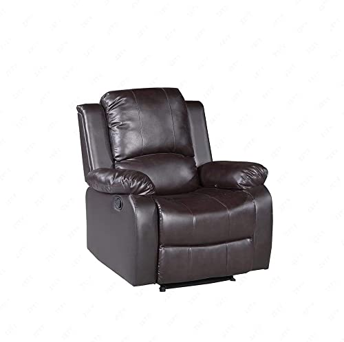 Mecor Living Room Single Sofa Chair Bonded Leather Recliner Furniture,Brown