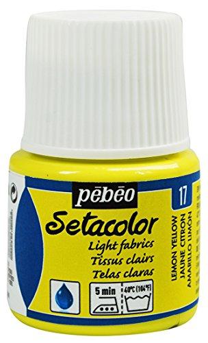 Pebeo Setacolor Light Fabrics Paint 45-Milliliter Bottle, Lemon