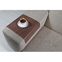Full Slatted Florida Walnut 30cmx40cm Sofa tray, sofa table, arm table,couch tray, wooden tray,wood tray,napoli disbudak