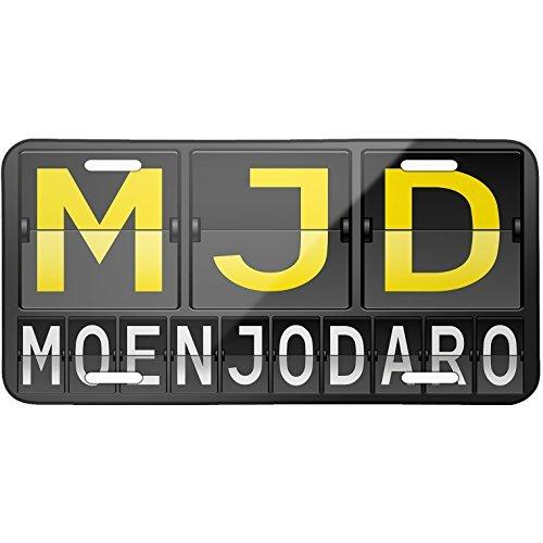 mjd-airport-code-for-moenjodaro-metal-license-plate-6x12-inch