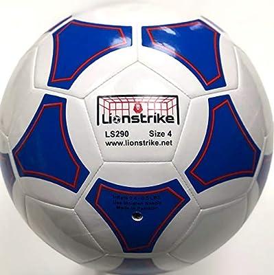 Lionstrike Balón de fútbol, Piel, tamaño 4, Color Blanco, tamaño 4 ...