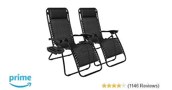 amazon com best choice products set of 2 adjustable zero gravity