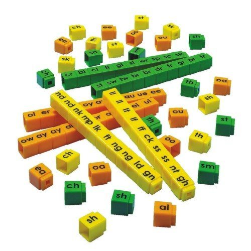 Blends And Digraphs (DD-2828 - UNIFIX BLEND CUBES SET)