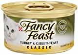 Fancy Feast Gourmet Cat Food, Turkey and Giblets Feast, 3-Ounce Cans (Pack of 24), My Pet Supplies