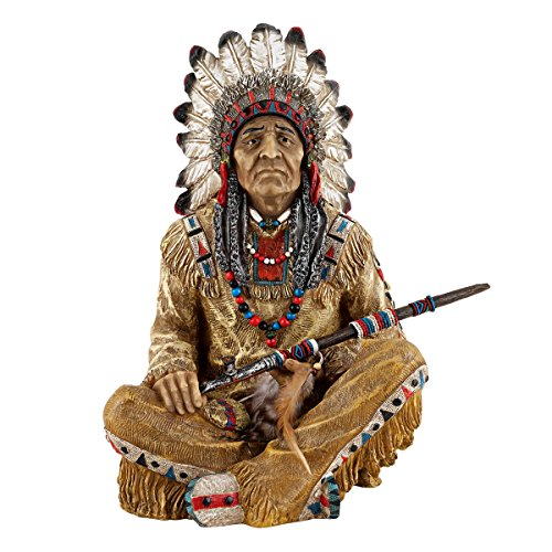 Design Toscano Noble Feathers Native American (Native American Indian Statue)