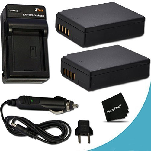 2 High Capacity Replacement Canon LP-E12 Batteries with AC/DC Quick Charger Kit for Canon EOS M EOS M2 DSLR Camera