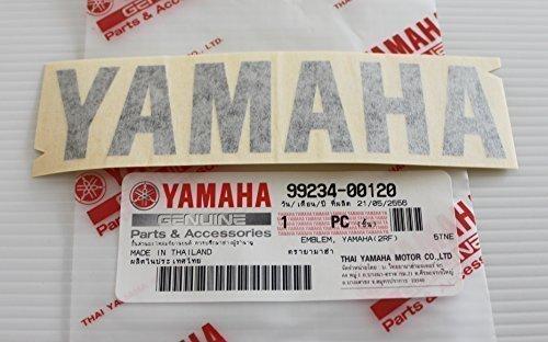 Yamaha 99234-00120 - Genuine Yamaha Decal Sticker Emblem Logo 120MM X 28MM Black Self Adhesive Motorcycle/Jet Ski/ATV/Snowmobile