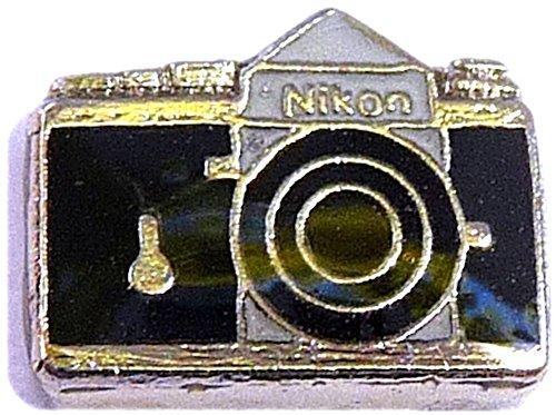 Silvertone Camera Floating Locket Charm ()
