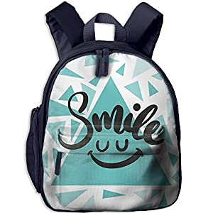 HFIUH5 Smile Printing Backpack School Book Bag Boys Girls Daypack Travel Bag For Kids