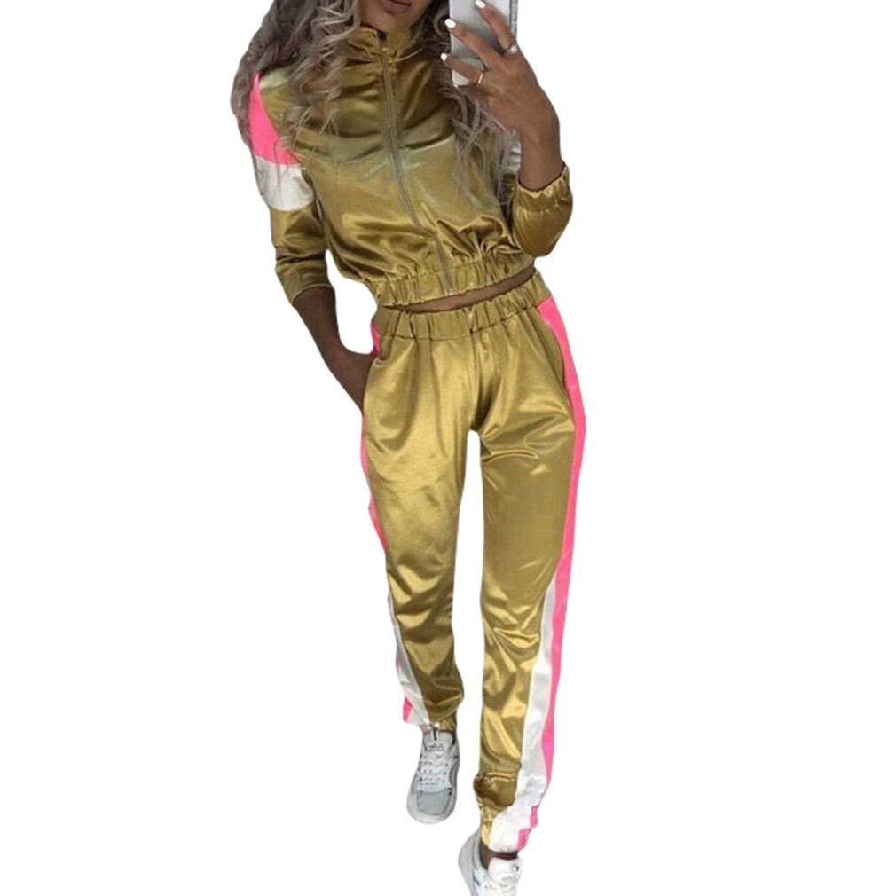 Pants Trainingsanzug Passenden Set Yying Mode Zweiteiler Frauen Trainingsanzug Festival Kleidung Plus Gr/ö/ße Langarm Outfits Tops