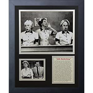 Legends Never Die I Love Lucy Chocolate Factory Framed Photo Collage, 11 by 14-Inch
