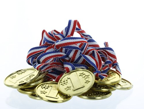 lot-of-24-plastic-1st-place-gold-winner-medals-award-ribbons-party-favors