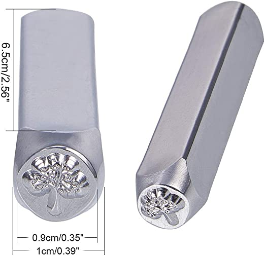 UNICRAFTALE PC 1 Sellos de Sellos de Hierro Patr/ón de Estrella cuboide Sello de Metal Perforado Platino Estuche de Estampado Etiqueta de Acero del Metal Kits de Estampado 64,5x10x10mm