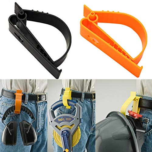 2Pcs Pack Orange and Yellow Sino-Max S002-2YO Belt Hook Glove Clip Carrier Accessory, Utility Catcher Clip Belt Clip Attachment For Gloves,Hard Hats, Ear Muff Clip, Helmets,With Belt Clip by Sinomax (Image #5)