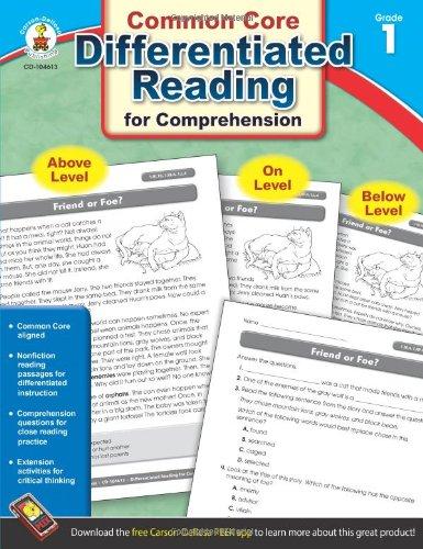 Download Differentiated Reading for Comprehension, Grade 1 pdf epub