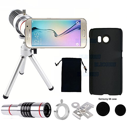 Camera Lens Kit, Universal 18x Optical Telescope Mobile Lens, 18X Zoom Lens with Tripod + Exclusive Phone Case for Samsung Galaxy S6