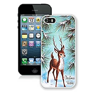 2014 Newest Iphone 5S Protective Cover Case Christmas Deer iPhone 5 5S TPU Case 7 White hjbrhga1544