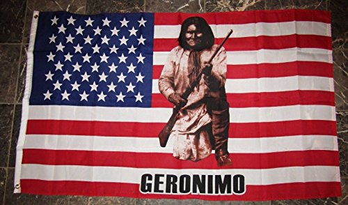 Ant Enterprises 3x5 Geronimo Indian Native American USA Flag 3'x5' Banner Brass Grommets